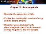 chapter 25 1 learning goals