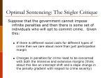 optimal sentencing the stigler critique