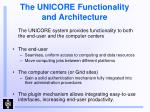 the unicore functionality and architecture