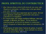 profil spirituel du contributeur
