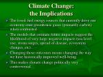 climate change the implications