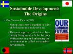 sustainable development the origins