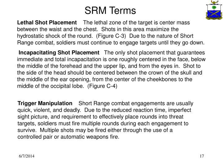 SRM Terms