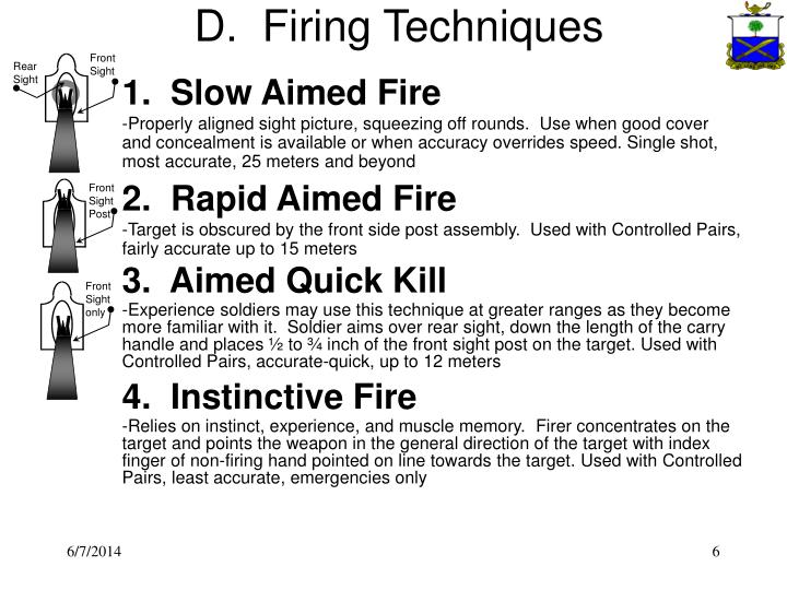 D.  Firing Techniques