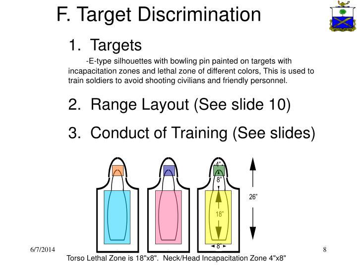 F. Target Discrimination