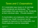 taxes and c corporations