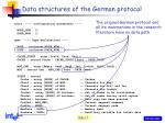 data structures of the german protocol1