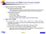 generation of erms from formal models