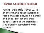 parent child role reversal