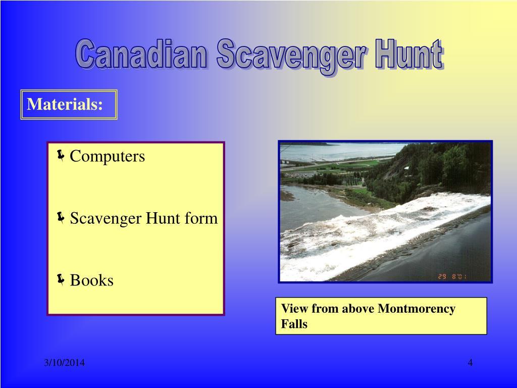 Canadian Scavenger Hunt
