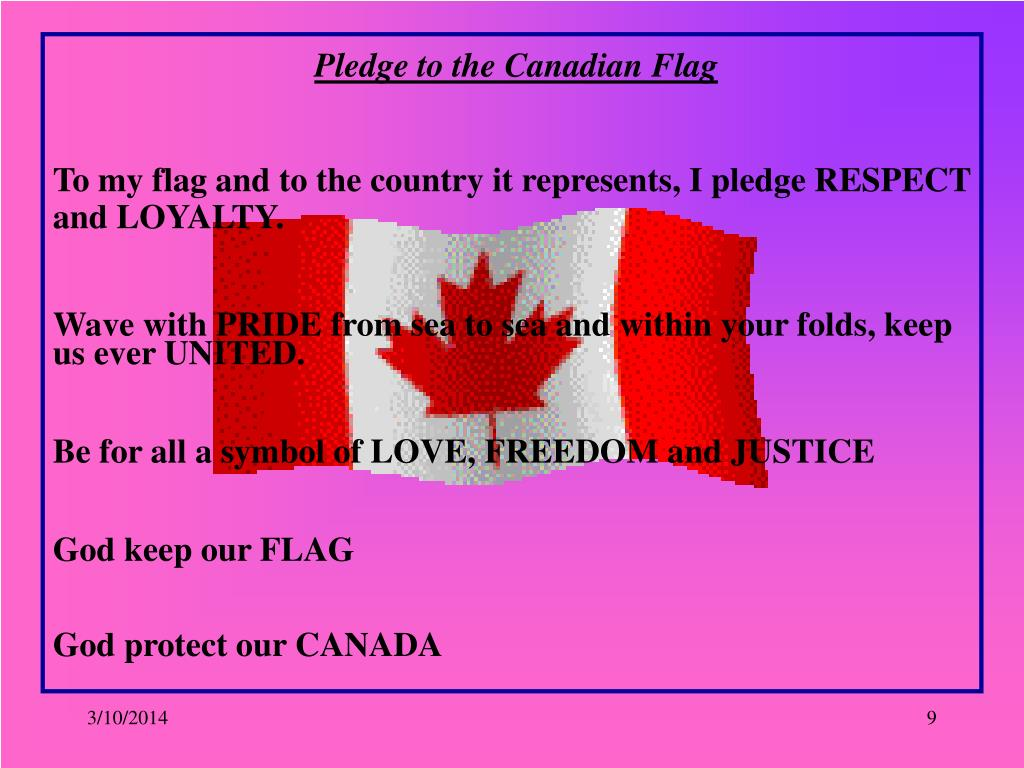 Pledge to the Canadian Flag