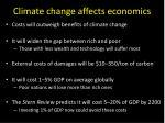 climate change affects economics