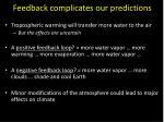 feedback complicates our predictions