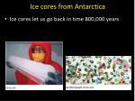 ice cores from antarctica