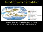 projected changes in precipitation