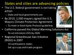states and cities are advancing policies