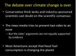 the debate over climate change is over