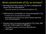 what caused levels of co 2 to increase