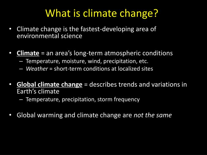 what is climate change n.