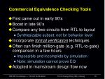 commercial equivalence checking tools