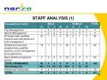 staff analysis 1