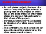 close procurement2