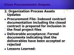 close procurements outputs1