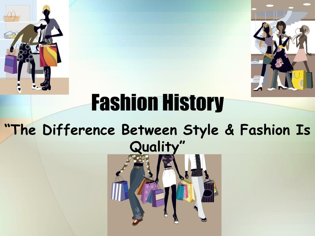 Ppt Fashion History Powerpoint Presentation Free Download Id 1410197