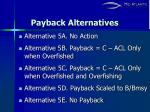 payback alternatives