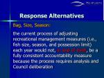 response alternatives7