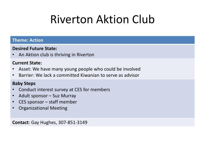 Riverton aktion club