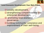 local economic development four main pillars