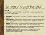 systems of classifying fungi1