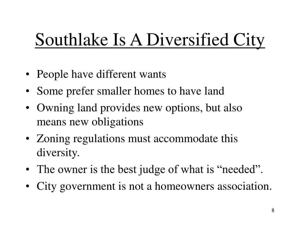 Southlake Is A Diversified City