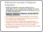 defining the concept of regional integration