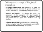 defining the concept of regional integration1