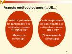 aspects m thodologiques ue