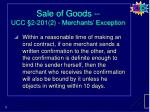 sale of goods ucc 2 201 2 merchants exception