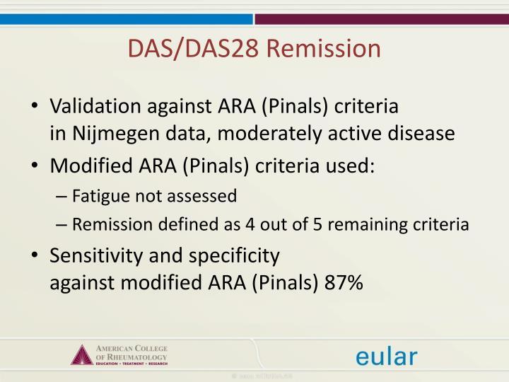 DAS/DAS28 Remission