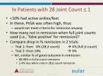 in patients with 28 joint count 1