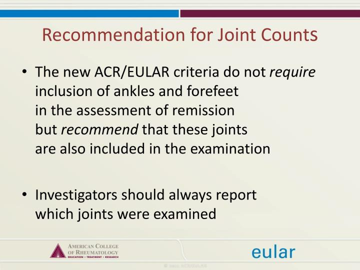 Recommendation for Joint Count
