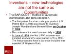 inventions new technologies are not the same as opportunities