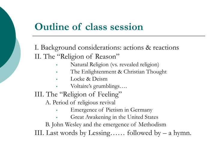 outline of voltaire lessing and kant