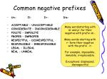 common negative prefixes