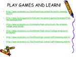 play games and learn