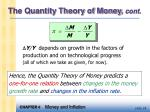 the quantity theory of money cont4