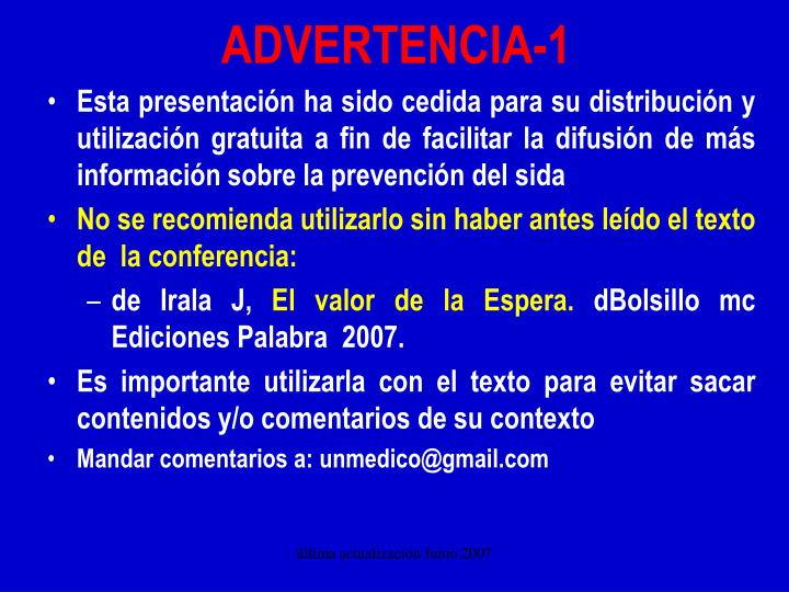 advertencia 1 n.