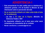 advertencia 1