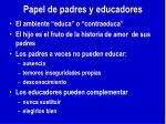 papel de padres y educadores