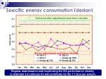 specific energy consumption design